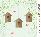 vector illustration of nesting...