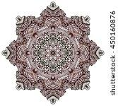 henna tattoo design mandala... | Shutterstock .eps vector #450160876