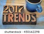 2017 trends banner   text in... | Shutterstock . vector #450162298