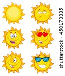 Sun Cartoon Mascot Characters....