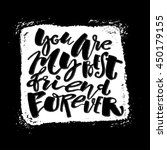 friendship day lettering... | Shutterstock .eps vector #450179155