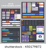 flat ui kit set of 4 ui kits.... | Shutterstock .eps vector #450179872
