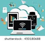 business cloud computing.... | Shutterstock .eps vector #450180688