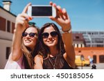 Young Woman Make Selfie  Posin...