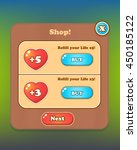 shop pop up game ui