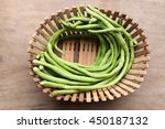 Yard Long Bean In Basket On...