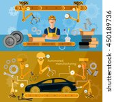 car assembly line banner... | Shutterstock .eps vector #450189736