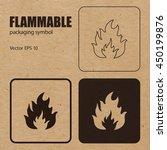 flammable vector packaging... | Shutterstock .eps vector #450199876