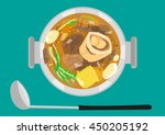 bulalo is a native beef dish of ... | Shutterstock .eps vector #450205192