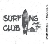 surf club concept. vector... | Shutterstock .eps vector #450206878