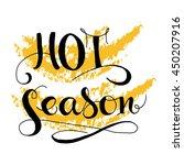 hot season card. hand drawn...   Shutterstock .eps vector #450207916