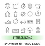 fitness  icons with white... | Shutterstock .eps vector #450212308
