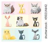 set of cat family. vector...   Shutterstock .eps vector #450214642