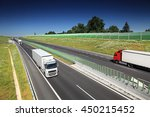 truck transportation on the road | Shutterstock . vector #450215452