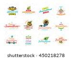 happy janmashtami festival... | Shutterstock .eps vector #450218278