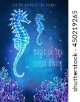 sea horse in the depth of the... | Shutterstock .eps vector #450219265