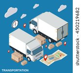 logistics  delivery ... | Shutterstock .eps vector #450219682