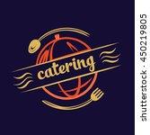 logo for catering restaurant... | Shutterstock . vector #450219805