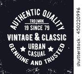 t shirt print design. vintage... | Shutterstock .eps vector #450220996