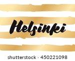 helsinki  finland. capital city ... | Shutterstock .eps vector #450221098