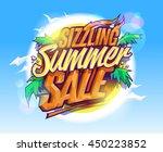 sizzling summer sale  hot... | Shutterstock .eps vector #450223852
