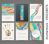 set of vector design templates. ... | Shutterstock .eps vector #450228076