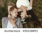 gorgeous bride and stylish...   Shutterstock . vector #450228892