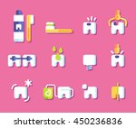 dental health icons. vector... | Shutterstock .eps vector #450236836