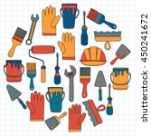 repair and renovation tools... | Shutterstock .eps vector #450241672
