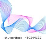two intersecting wave line ... | Shutterstock .eps vector #450244132