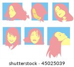 woman face  vector illustration. | Shutterstock .eps vector #45025039