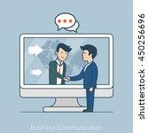 linear flat businessmen... | Shutterstock .eps vector #450256696