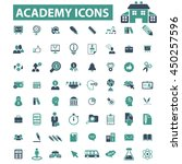 academy icons | Shutterstock .eps vector #450257596