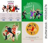 dancing people  dancer bachata  ... | Shutterstock .eps vector #450265276