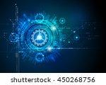 vector illustration gear wheel  ... | Shutterstock .eps vector #450268756