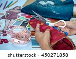 fashion designer   tailor... | Shutterstock . vector #450271858