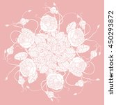 vector floral bouquet in... | Shutterstock .eps vector #450293872