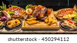 carving meat station in buffet... | Shutterstock . vector #450294112
