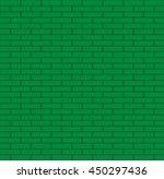 Seamless Green Bricks Vector...