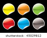 collection of six circular icon ... | Shutterstock . vector #45029812