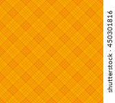 orange argyle plaid background. | Shutterstock .eps vector #450301816