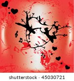 abstract love vector background | Shutterstock .eps vector #45030721