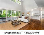 beautiful large living room... | Shutterstock . vector #450308995