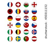 flags of europe. vector... | Shutterstock .eps vector #450311152