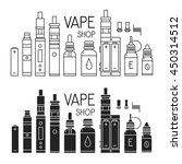 vector icons of vape and... | Shutterstock .eps vector #450314512
