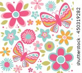 seamless spring floral pattern | Shutterstock .eps vector #450319282