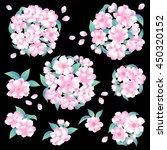 japanese style cherry blossom   Shutterstock .eps vector #450320152