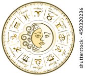 zodiac signs  horoscope  vector ... | Shutterstock .eps vector #450320236