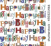 seamless happy birthday pattern | Shutterstock .eps vector #450321466