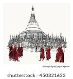 yangon  myanmar view of...   Shutterstock .eps vector #450321622